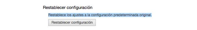 Configuración Chrome