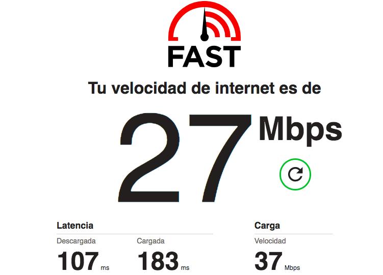 Test de velocidad Fast